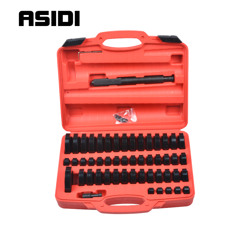 51Pc Custom Bushing Bearing Seal Driver Push Press Disc Tool Set 18-65mm PT1428