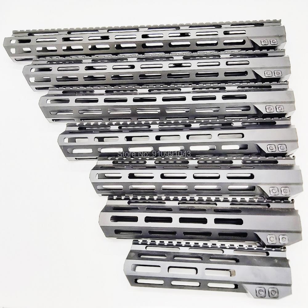 MLOK handguard Free Float Super Slim ar 15 Handguard Quad Rail steel Nut .223 for AR 15 M4 M16 7 9 10 12 13.5 15 17 19 22 inch