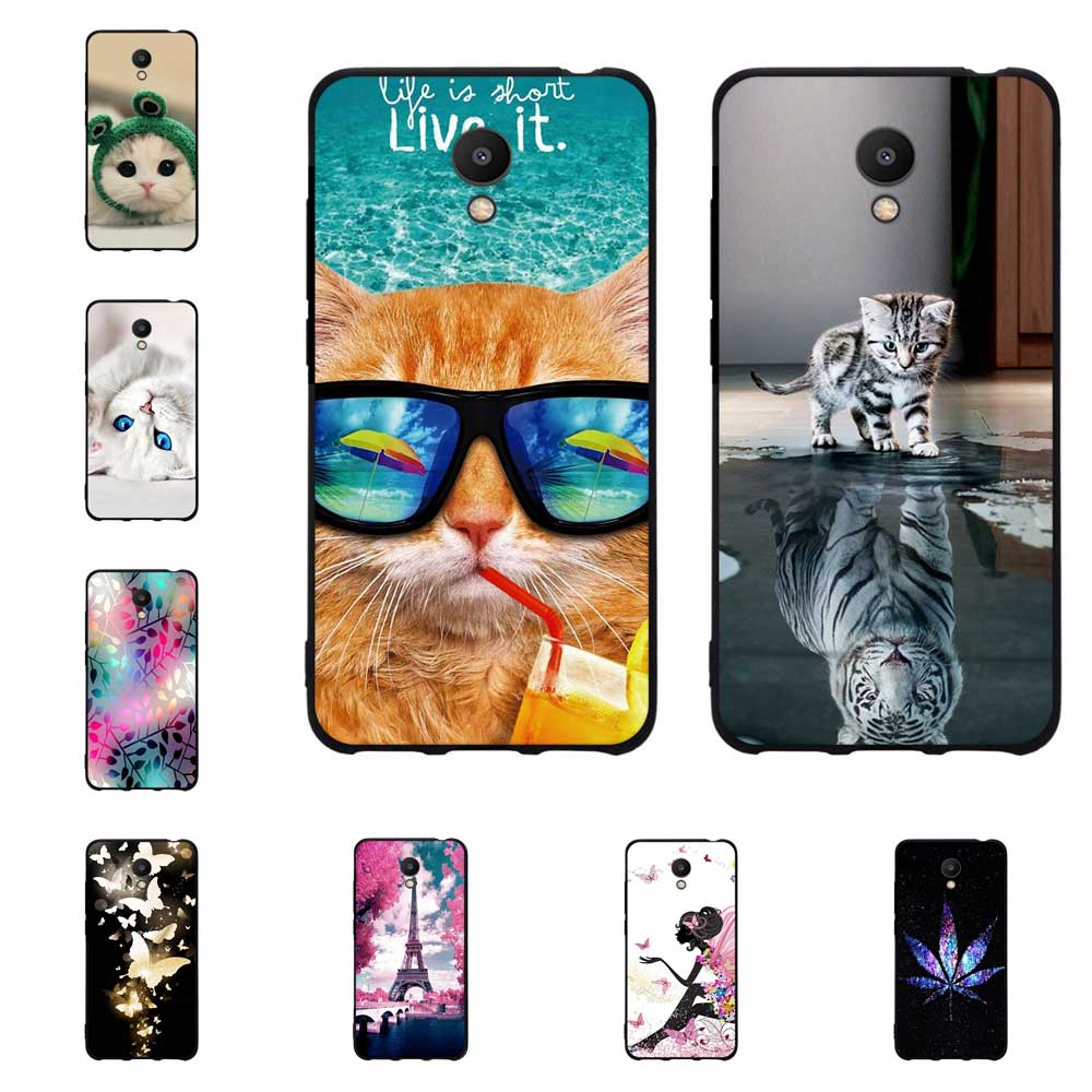 Phone For <font><b>Meizu</b></font> M6 Meiblue 6 Meilan 6 <font><b>Case</b></font> Silicone Back Protective Funda for <font><b>Meizu</b></font> <font><b>M6T</b></font> <font><b>Case</b></font> Black Matte Soft Meiblue 6T Cover image