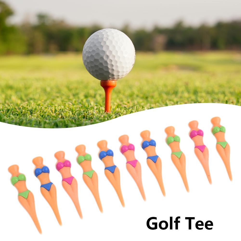 Random Color Ball Seat Golf Nail Outdoor Activity Divot Tools Plastic Bikini Lady Girl Christmas Gifts Tee