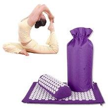 Vücut kafa akupressur matı masaj yastığı kabartma stres masajı çantası acupressure halı Spike Yoga mat masaj minderi