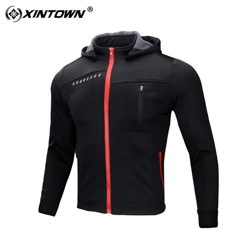 Hiver thermique Sports de plein air veste cyclisme Maillot à manches longues vélo vêtements imperméable coupe vent XINTOWN Maillot vtt vêtements - 4
