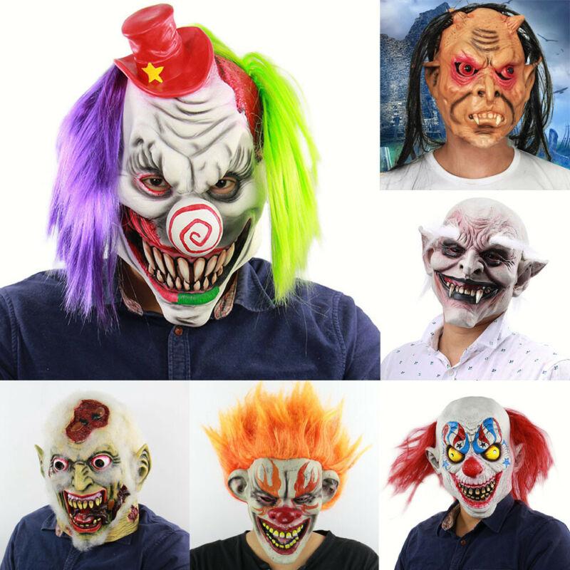 Hot Sale Halloween Mask Scary Ghastful Creepy Realistic Horrible Monster Mask Cosplay Costumes