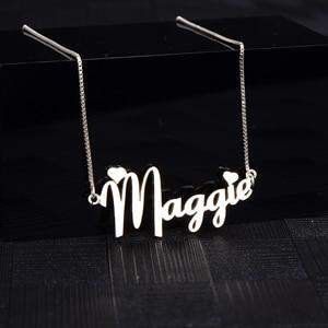 Image 5 - RainMarch Personalisierte Namenecklace 925 Silber Frauen Halsketten & Anhänger Customiz Halskette Geburtstag Geschenk Dropshipping