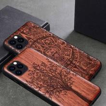 電話ケース iphone 11 iPhone11 プロオリジナル boogic 木製 tpu ケース iphone xr xs 最大 8 7 6 6s プラス se 2 電話アクセサリー