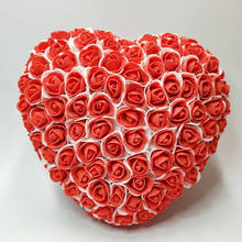 2019 Sale Flores Fake Flowers 1pc 25cm Foam Rose Heart Wedding Car & Wall Door Party Home Artificial Floral Decorations Real