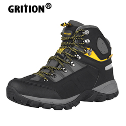 GRITION Men Waterproof Hiking Boots High Top Walking Winter Work Mountain Sport Shoes Soft Shell Trekking Outdoor Ankle 2020 New