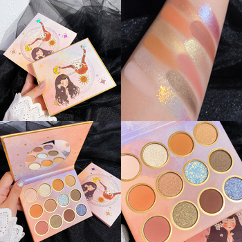 12 Color Eyeshadow Palette Glitter Shimmer Matte EyeShadow Pallete Metallic Diamond Makeup Cosmetic Pigmented