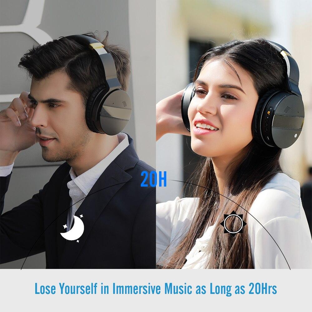 COWIN E8A, 20 часов, музыкальные Hi Fi наушники, ANC, шумоподавление, беспроводная Bluetooth гарнитура, Накладные наушники для компьютера, путешествий, кр... - 6