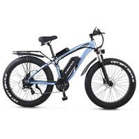 "GUNAI Electric Off-road Bikes Fat Bike 26"" 4.0 Tire E-Bike BAFANG 1000w 48V Electric Mountain Bike with Rear Seat"