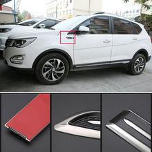 цена на Yfashion 2Pcs Car Side Cover Hood Air Intake Flow Vent Anticollision Protector Shark Gills Decoration Stickers