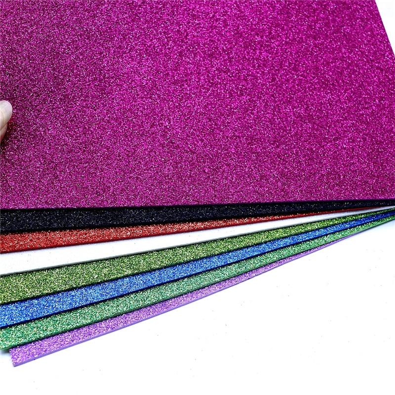 10 Pcs Glitter EVA Foam Paper Spong Paper Diy Craft Manual Paper-cut Scrapbook Paper Kindergarten Decorations Supplies 20X30 Cm