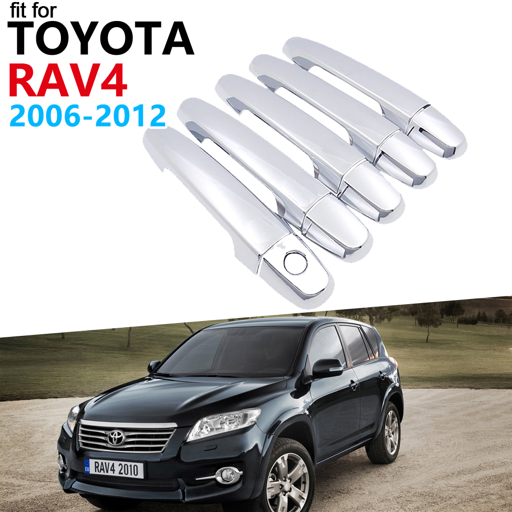 Door Handle Car Accessories for <font><b>Toyota</b></font> <font><b>RAV4</b></font> XA30 2006~2012 Chrome Handle Cover Trim Set Car Stickers 2011 <font><b>2010</b></font> 2009 2008 2007 image