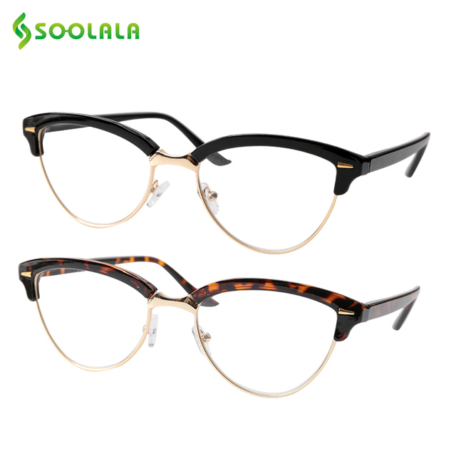 Semi-rimless Cat Eye Reading Glasses 2