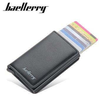Aluminum Metal Credit Business Mini Card Wallet 2021 Dropshipping Man Women Smart Thin Wallet Business Card Holder Rfid Wallet 1