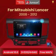 Автомагнитола Junsun V1 pro 2G + 128G Android 10 для Mitsubishi Lancer 2007 - 2013 мультимедийный видеоплеер навигация GPS 2 din dvd