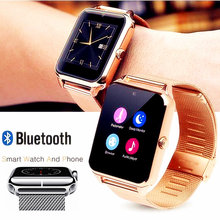 Z60 stalen band smart watch Z60 smart watch Bluetooth smart wearable plug-in kaart telefoon horloge fabrikant directe verkoop(China)