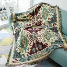 Alta calidad Vintage gruesa manta multiusos de doble cara tapiz de pared sofá toalla cama cubierta alfombra manteles edredones