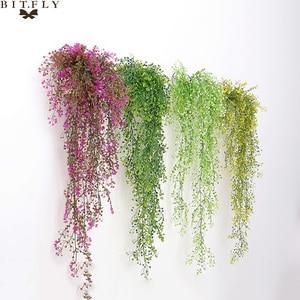 Artificial Fake Silk Plants Vine Garden Decoration Hanging Garland Plant Artificial Flowers Home Garden Wedding Decor