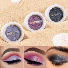 HANDAIYAN 12 Color Single Glitter Eyeshadow Palette Lasting Waterproof Soft Shimmer Eye