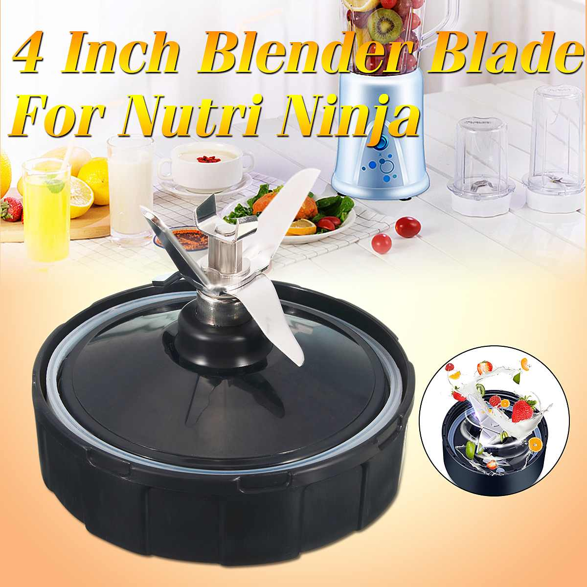 4inch 7 Fin Blender Blade Part Juicer Mixer Spare Assembly Replacement For Nutri Ninja