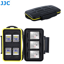 JJC Camera dslr Memory Card Case Water Resistant SD XQD Storage Box For Canon Eos M10 1300d Nikon D5300 Sony A5000 A5100 A6000