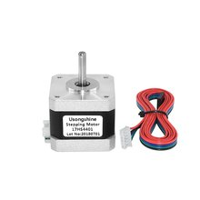 цена на Nema 17 Stepper Motor 1.5A Nema 17 Step Motor 42BYGH 17HS4401 Motor 4-lead For 3D Printer CNC Engraver Free Shipping