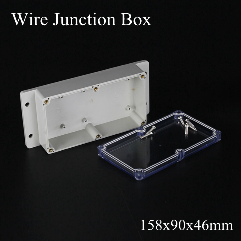 158x90x46mm ABS IP65 Waterproof Plastic Wire Junction Box With Mounted Distribution Clear Enclosure Transparent Project Case