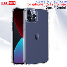 clear case for iphone 12 pro case iphone 12pro max cover transparent ultra thin soft back tpu silicon slim iphone 12mini coque