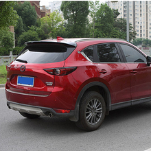 ABS plastic color rear roof spoiler tail luggage wing wing accessories for Mazda CX-5 CX5 2017 2018 for mazda cx 5 spoiler high quality abs material car rear wing primer color rear spoiler for mazda cx 5 spoiler 2013 2017