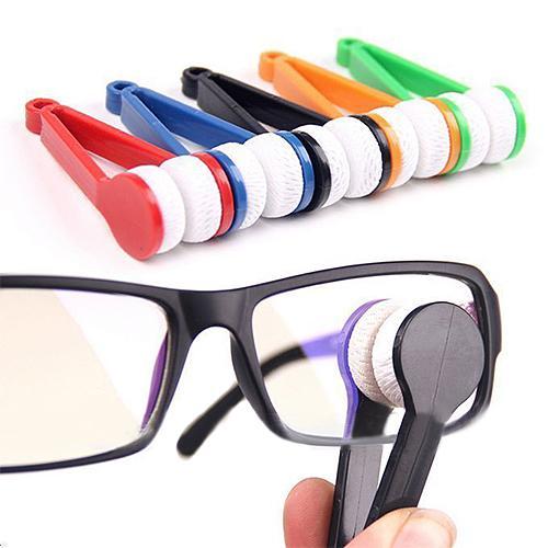 1PC Mini Two side Glasses Brush Microfiber Spectacles Cleaner Glasses Cleaning Rub Cleaner Eyeglass Cleaner Brush Screen Rub