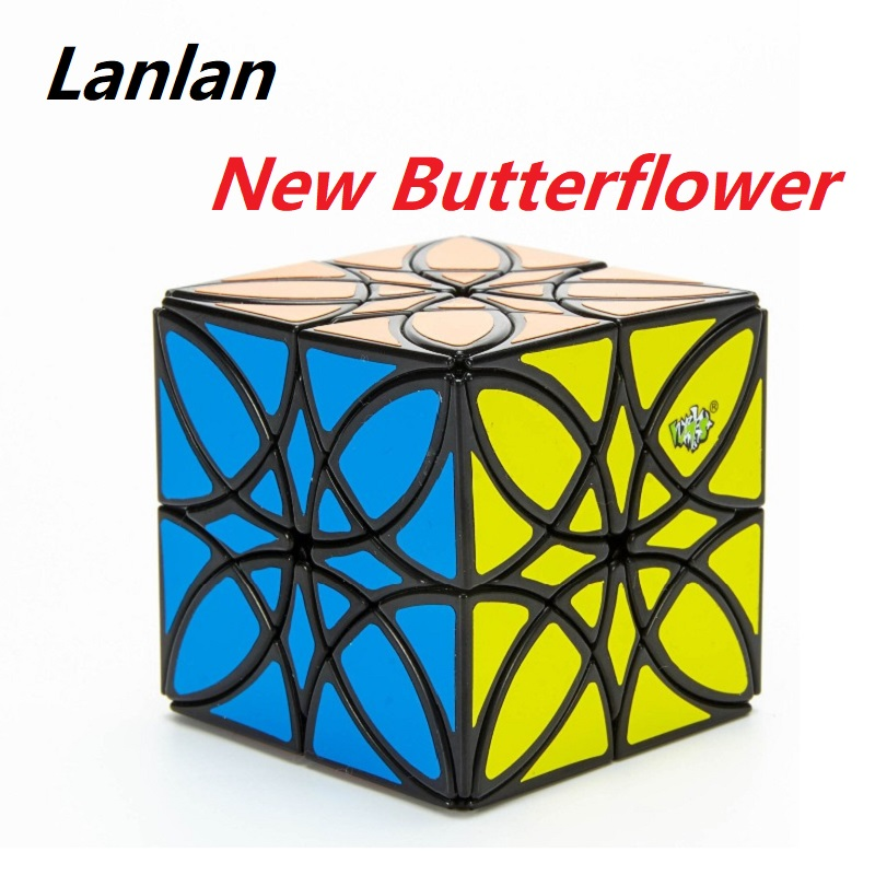 New Design LanLan Butterflower Magic Cube Puzzle 5.7cm Cubo Magico Xmas Gift Idea Game Specail Shape Educational Toys Children