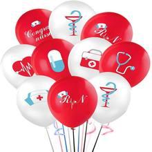 Enfermeira graduação banner enfermeira balão conjunto-enfermeira festa decoração suprimentos-enfermeira graduação decoração 32 pçs 12 Polegada