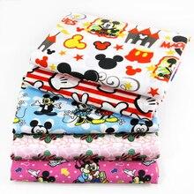 50*140 см с рисунком мышки из мультфильма, полиэстер, хлопок, ткань для детской ткани, домашний текстиль, подушки, Швейные Детские одеяла, ткань, c416