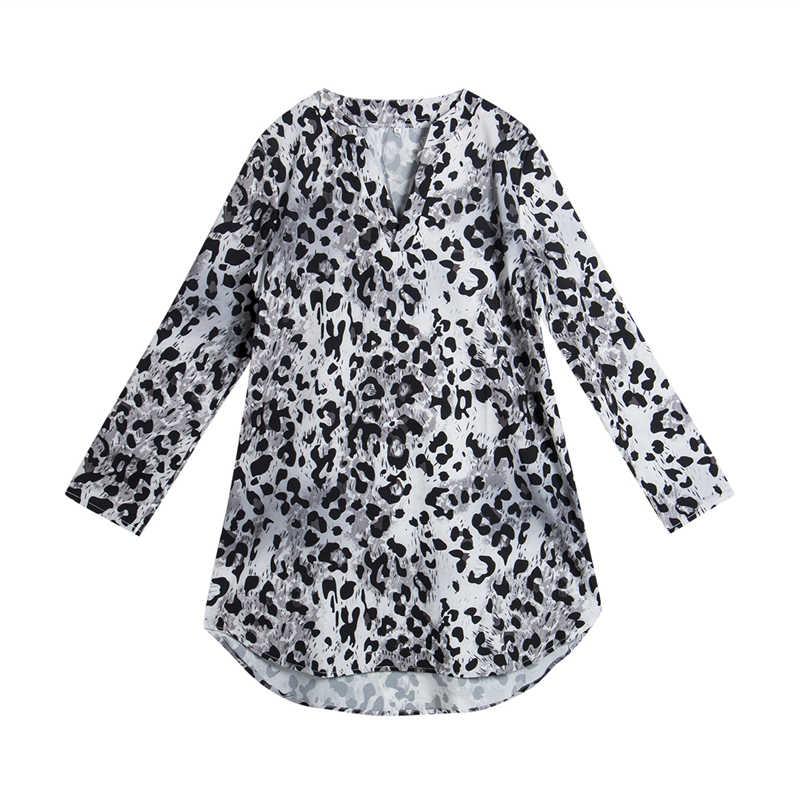 Модное женское леопардовое платье-футболка, элегантные вечерние платья с длинным рукавом, Клубная одежда с v-образным вырезом, женская одежда, женская одежда, уличная одежда
