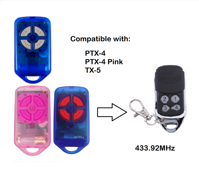 FOR  Ptx4 Garage Gate Door Remote Control PTX-4 Replacement