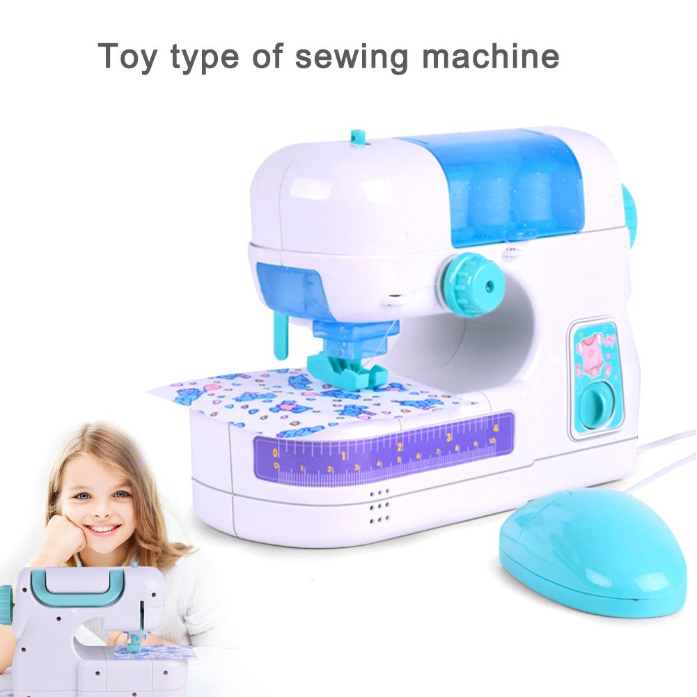 Boys Girls Kids Electric Sewing Machine Toy Pretend Play Game Simulation Home Furniture For Children Toddle Birthday Gifts