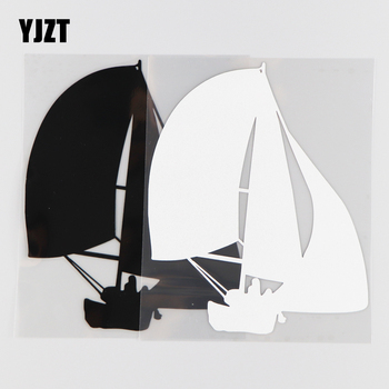 YJZT 13.3CM*16CM Sailboat Decorative Pattern Dar Stickers Vinyl Decal 1A-0171 image