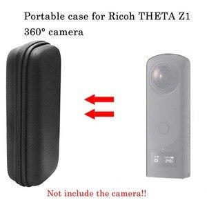 Image 3 - Jinserta 휴대용 충격 방지 케이스 리코 세타 z1 360 ° 카메라 나일론 가방 carabiner theta z1 360 ° 파노라마 카메라