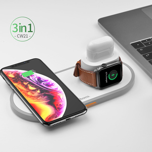 Image 5 - HOCO CW21 3 in 1 Wireless Charger for Apple Watch 4 3 2 1 Fast Charger for Airpods iPhone 11 X XS MAX 8 QI Wireless Charging Pad