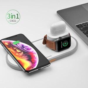 Image 5 - HOCO CW21 bezprzewodowa ładowarka 3 w 1 do Apple Watch 4 3 2 1 szybka ładowarka do Airpods iPhone 11 X XS MAX 8 QI bezprzewodowa podstawka ładująca