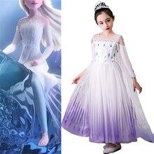 ילדה של נסיכה קפוא מלכת שלג אלזה המפלגה קוספליי תחפושת שמלה