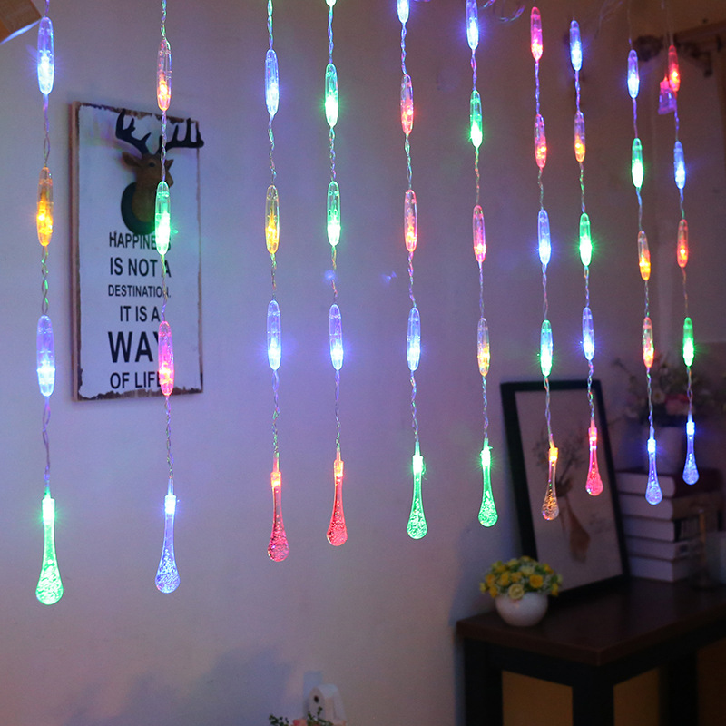 2.5M LED Icicle String Lights Christmas Fairy Lights Garland Outdoor Home For Wedding/Party/Curtain/Garden New Year's Decoration