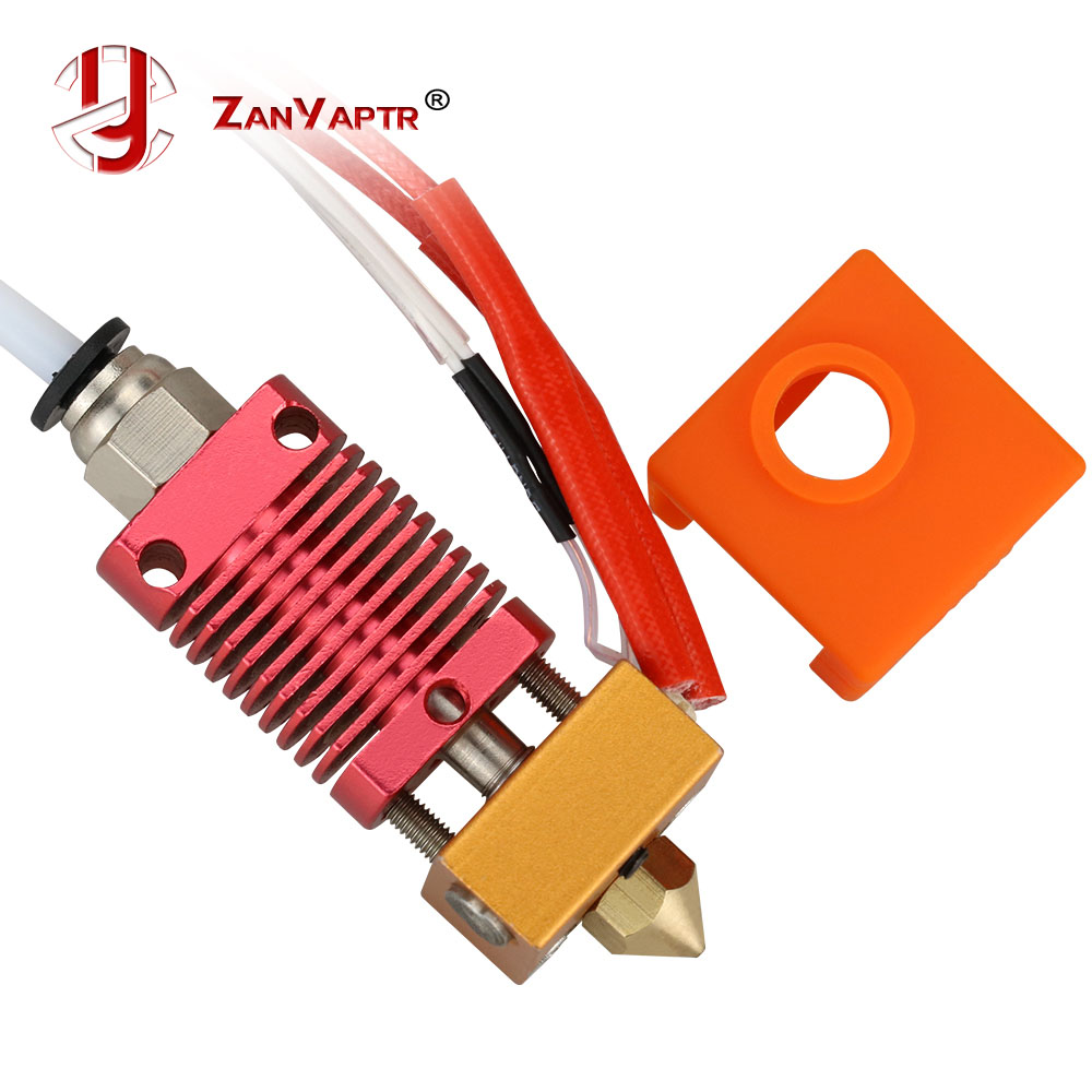 Assembled 1.75mm Extruder Hotend Kit Aluminum Heat Block For 3D Printer Ender-3/CR-10/CR-10S With 0.4mm Nozzle Printer