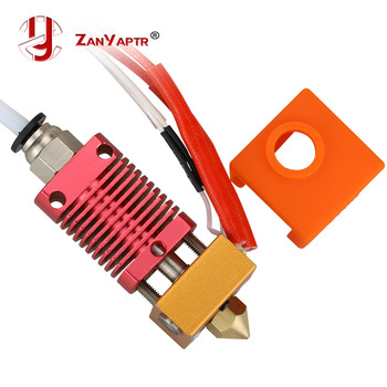 Assembled 1.75mm Extruder Hotend kit Aluminum Heat Block For 3D Printer Ender-3/CR-10/CR-10S With 0.4mm Nozzle printer 3d printer parts cyclops 2 in 1 out 2 colors hotend 0 4 1 75mm 12v 24v fan bowden with titan bulldog extruder multi color nozzle