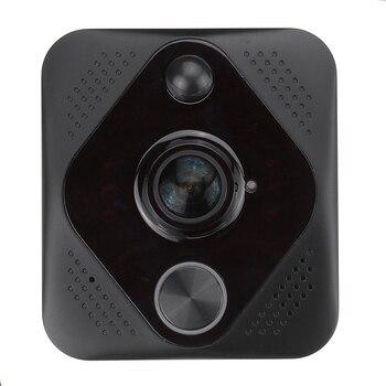 X6 Video Doorbell Hd 1080P 180 Degree Wifi Wireless Intelligent Intercom System Cloud Storage Alarm System Black Abs