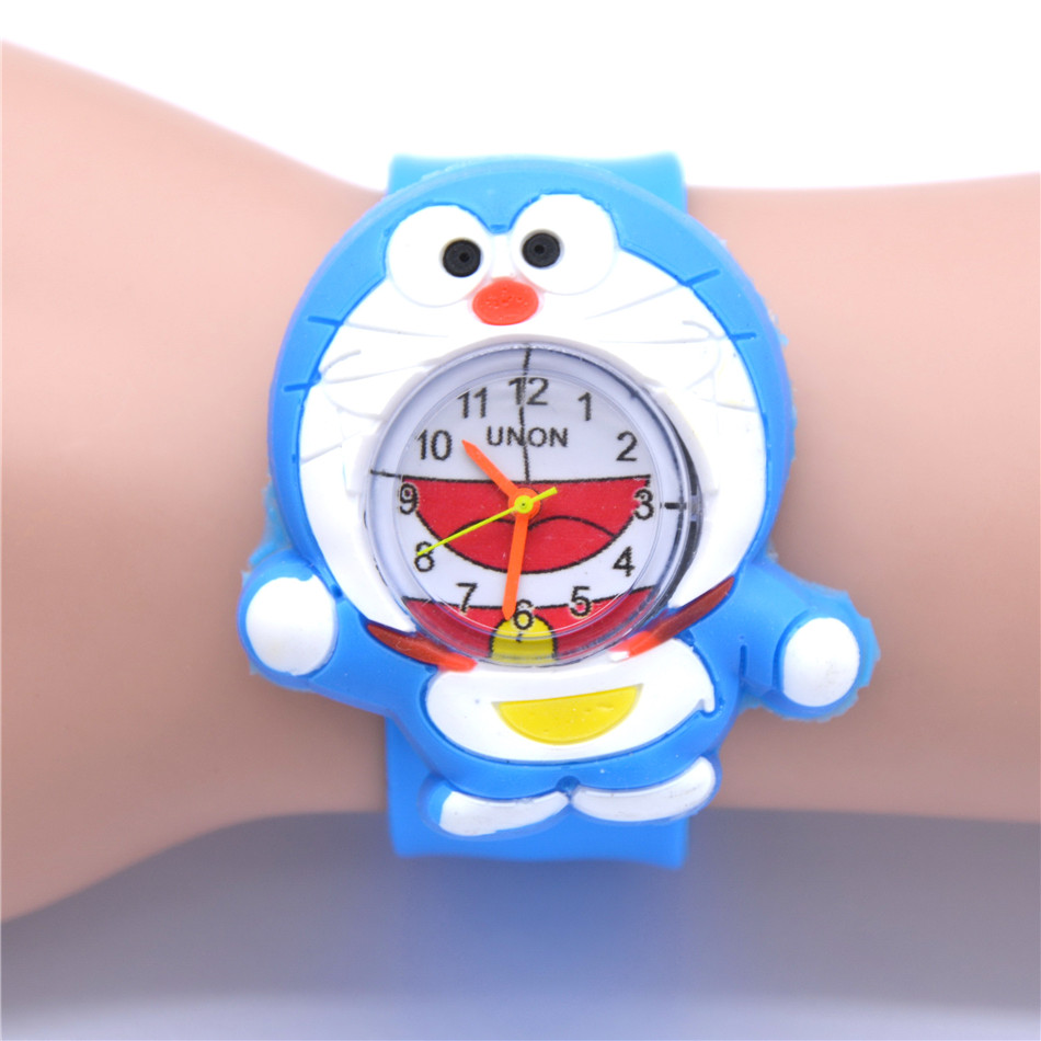 Smart Cat Animal Watches For Boys New Year Gifts Japanese Cartoon Clocks Kids Rubber Quartz Watches
