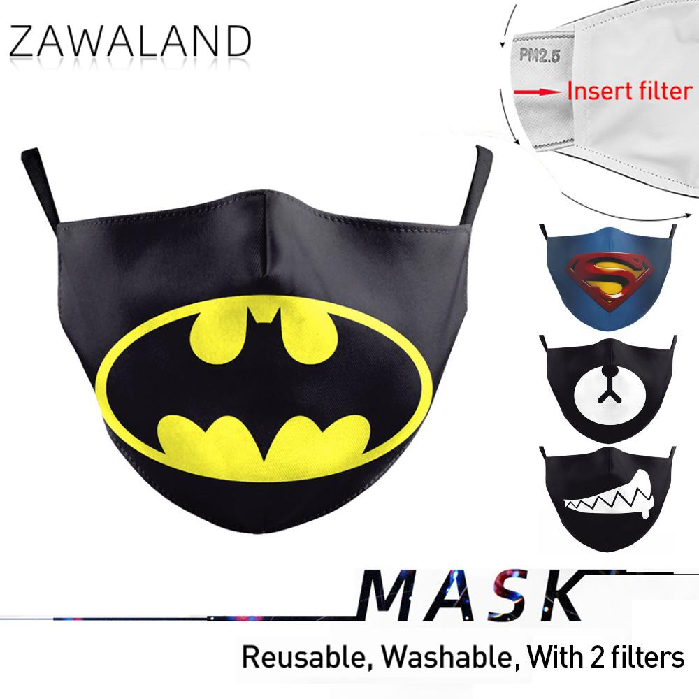 Zawaland Adult Washable Mouth Masks Superman Print Mask Adjustable Anti Pollution Face Mask Cover Unisex