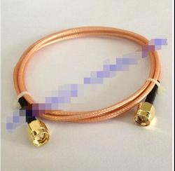 Posrebrzanych drutu (RG316) połączyć się z sma j podwójny męski głowy wewnętrzna śruba igła wewnętrzna SMA rewolucji rozszerzenie jumper