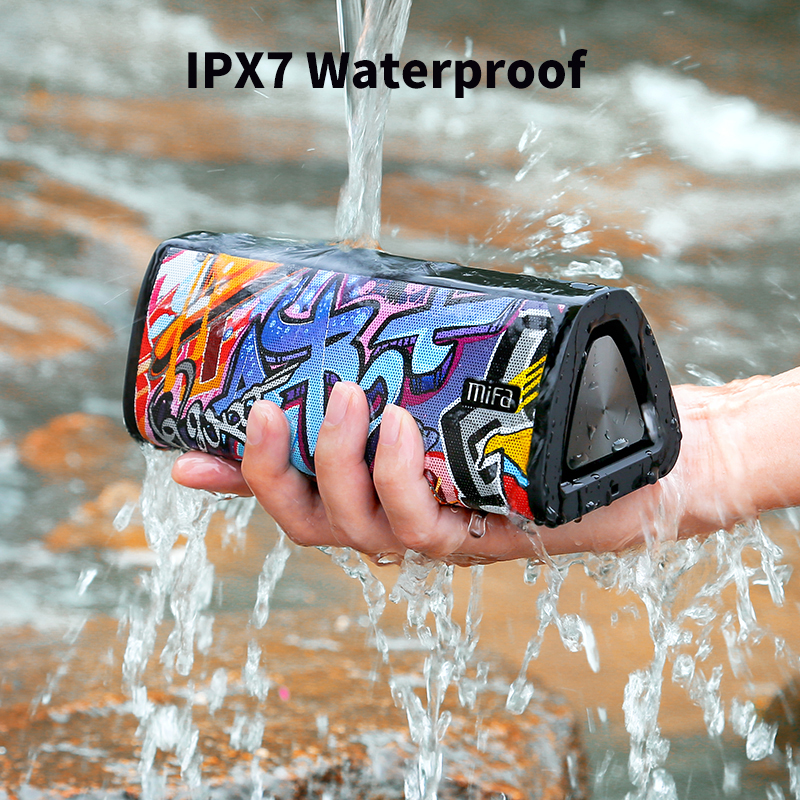 Mifa Bluetooth Speaker Stereo Sound Waterproof IPX7 Wireless 24-Hour 20W Portable Play-Time